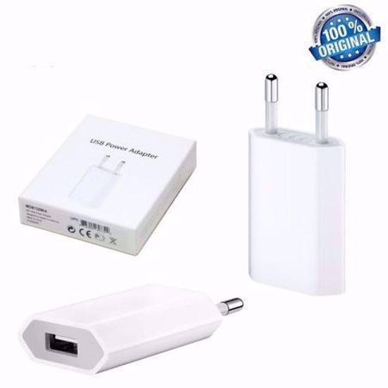 Imagine Incarcator Foxconn (Adaptor priza USB + Cablu de date Foxconn ) pentru iPhone 5 /6 / 7 / 8/x, XS/XR/XS MAX,Bulk