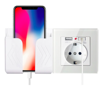 Imagine Incarcator priza cu 2 iesiri USB, 5V/2A ,Cu sport telefon ,white , PROMOTIE !!