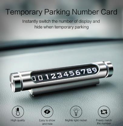 Dispozitiv  rotativ ,afisare numar de telefon, pentru parcare temporara, E-smartgadget,, Negru
