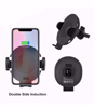 Imagine Incarcator auto, Automatic sensor,fast wireless charge ,Universal iphone 8,8+ ,x,xr ,xs ,xs max, 7,5W,Samsung, S8,9,9+note8,9 ,1OW ,prindere grila ventilatie+Ventuza,negru +incarcator auto fast 12A/3.5A, Nou Model C11