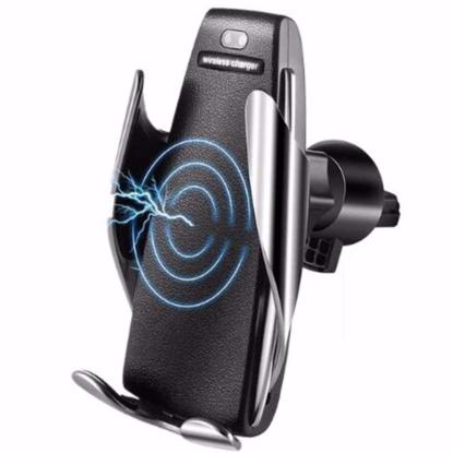 DELUXE, Incarcator Wireless AutoSuport, FAST CHARGE, 10W pentru samsung S8,9,Note8,9 , prindere grila ventilatie ,Ventuza + Incarcator auto fast charge 9v/2A +Card protectie contactless RFID si NFC pentru protejarea cardurilor bancare ,set 3 buc