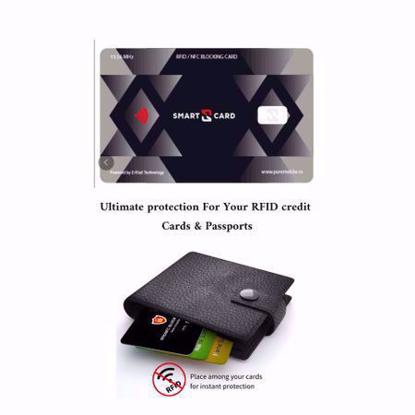 Imagine Card protectie contactless RFID si NFC pentru protejarea cardurilor bancare si pasapoartelor cu cip RFID - Smart -X- pachet cu 2 bucati