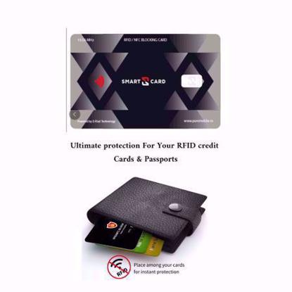 Card protectie contactless RFID si NFC pentru protejarea cardurilor bancare si pasapoartelor cu cip RFID - Smart -X- pachet cu 3 bucati