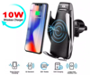 Imagine E-smartgadget , Incarcator Wireless AutoSuport, FAST CHARGE, DELUXE S5 ,10W pentru iphone 8,8+,X,Xs,XsMax, samsung S8,9,Note8,9,S10, prindere grila ventilatie+Ventuza , Silver