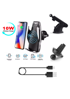 Imagine DELUXE, Incarcator Wireless AutoSuport, FAST CHARGE, 10W pentru samsung S8,9,Note8,9,S10,s10+ , prindere grila ventilatie ,Ventuza +Car parking temporar