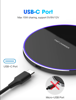 Imagine Incarcator Wireless Fast Charging Pad QI  15W,pentru iPhone11,11promax/X/XS/XSMAX