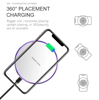 Imagine Incarcator wireless fast charge EFOX, Aluminum Ultra Slim 15W, white+Incarcator FAST Chargers 18W 3.0