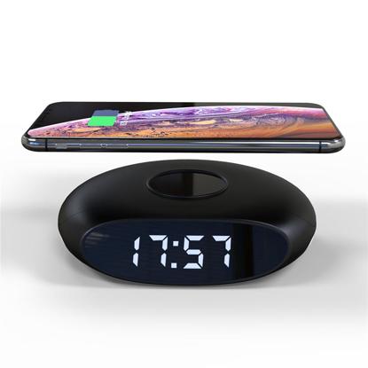 Incarcator wireless pliabil 4 in 1 Ceas cu alarma si lumina de noapte, Stand , placa de incarcare wireless ,10W