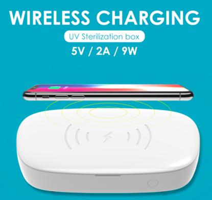 Cutie de dezinfectare UVC cu incarcator wireless pentru telefoane 10W,Pentru masti kn95