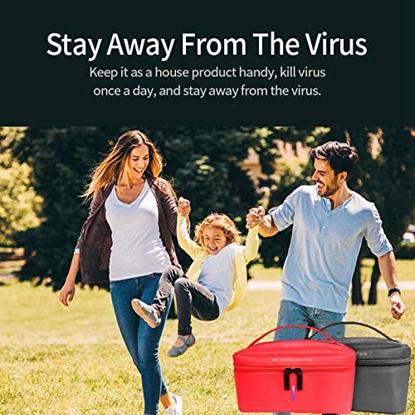 Geanta de dezinfectare UV, Rosu ,Sterilizator pentru masti KN95