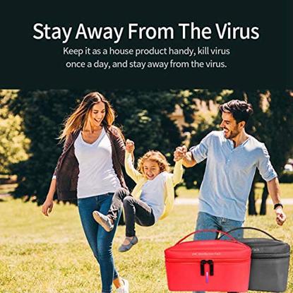 Geanta de dezinfectare UV, NEGRU  ,Sterilizator pentru masti KN95