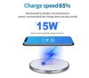 Imagine Incarcator wireless super fast charge  , Aluminum Ultra Slim 15W,WHITE +Incarcator FAST Chargers 18W 3.0