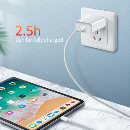 Set ,Incarcator Fast Charge  APPLE  18W pentru iPhone 11pro,11 Pro Max +Cablu de date fast charge 1m Type-C-Lightning + Adaptor fast auto 7A