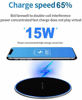 Imagine Incarcator wireless fast charge 15W,,Ultra Slim 15W +Incarcator FAST Chargers 18W/3.0 - black/red