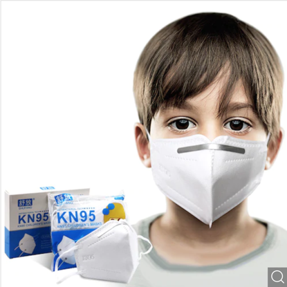 Set 10  buc masca pentru copii e-smartgadget KN95 FFP2 alb plus 1 buc cutie portabile pentru depozitare