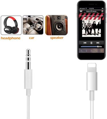 Cablu adaptor Lightning - Audio AUX 3.5 mm , 1m lungime