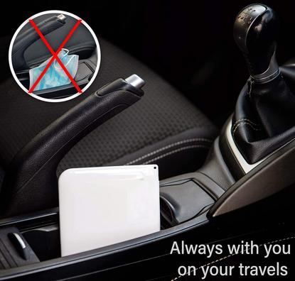 Set 4 bucati cutii  portabile pentru depozitare si protectie masca Kn95,alb