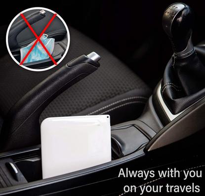 Set 4 bucati cutii  portabile pentru depozitare si protectie masca , EX-2 Kn95,alb -