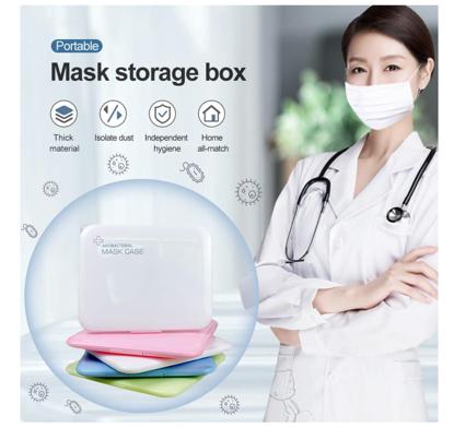 Set 4  bucati cutii  portabile pentru depozitare si protectie masca Kn95,diverse culori -EX2,antibacterial