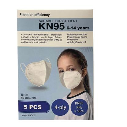 Set 10  buc masca pentru copii e-smartgadget KN95 FFP2 alb plus 1 buc cutie portabile pentru depozitare ,6-14 ani