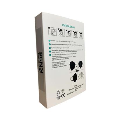 Set 10 bucati Masca de protectie KN95 FFP2 plus 4 bucati cutii portabile pentru depozitare,negru -EX2
