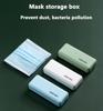Imagine Set 4 bucati cutii mini portabile ,protectie pentru masca faciala ,multicolor