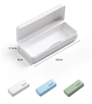 Set 4 bucati cutii mini portabile ,protectie pentru masca faciala ,multicolor