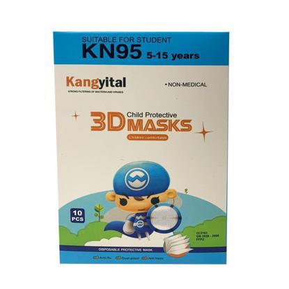 Masca KN95 FFP2 , pentru copii 5-13  ani set 10 buc,multicolor