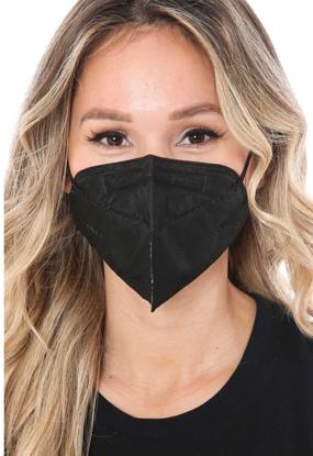Set 10 bucati Masca de protectie KN95 FFP2 plus 4 bucati cutii portabile pentru depozitare,negru