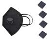 Imagine Set 10 Bucati Masca De Protectie KN95 FFP2 cu valve Plus 4 Bucati Cutii Portabile Pentru Depozitare,Negru