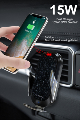 E-smartgadget ,  3in1 Incarcator Auto Wireless 15W, FAST CHARGE, DELUXE X7 , Smart sensor ,universal IPHONE ,SAMSUNG,HUAWEI