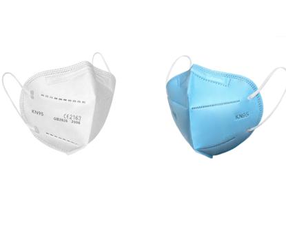 Imagine Set 10 Bucati Masca De Protectie KN95 FFP2 Albastru ,Alb ,QGSMH-10b