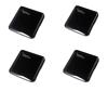 Imagine Set 4 bucati cutii  portabile pentru depozitare si protectie masca , Kn95,negru