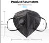 Imagine Set 10 Bucati Masca De Protectie KN95 FFP2 cu valve ,Negru Plus 1bucata Cutii Portabile Pentru Depozitare