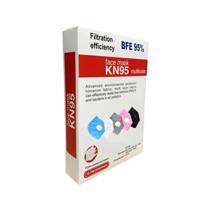Set 10 masti de protectie KN95 FFP2 cu Valve multicolor
