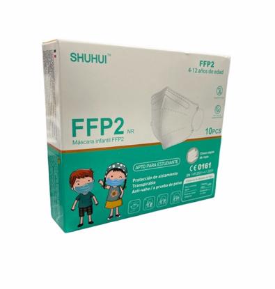 Set 10 masti de protectie KN95 FFP2 pentru copii 4-12 ani