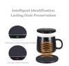 Imagine Incarcator Qi Wireless fast charge 18W 2 in 1 cu incalzire cana prin inductie negru