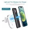 Imagine Set Incarcator magnetic wireless car charger alb, pentru iPhone 12/12 Pro/12 Pro Max/12 Mini, plus incarcator auto 7A ,X16