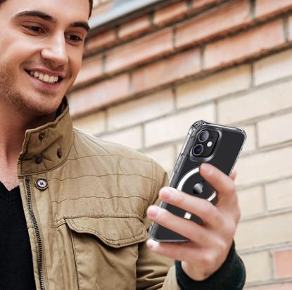 Husa de protectie  Clear Case MagSafe pentru iPhone 12
