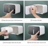 Imagine Set Perie silicon pentru toaleta cu suport hartie igienica cu raft de depozitare dispenser